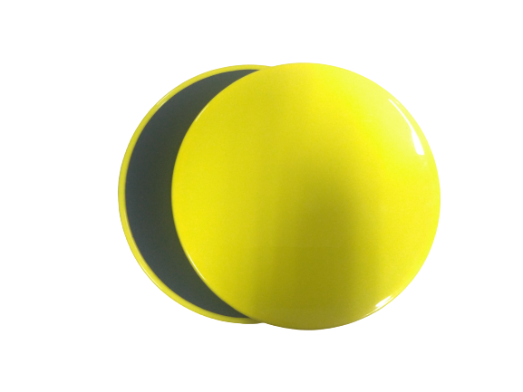 PROSPEC Core Exercise Sliding and Gliding Disc Yellow