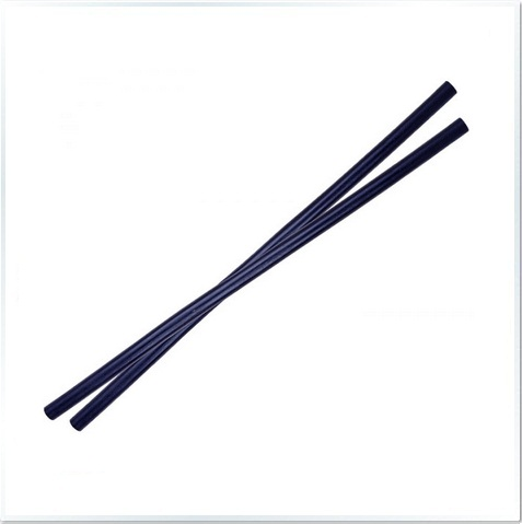 Pair Black Rattan Stick