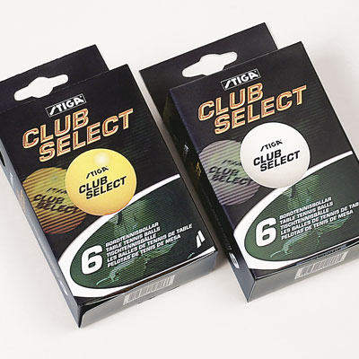 Stiga Club Select 40mm Balls Box of 6 (White)