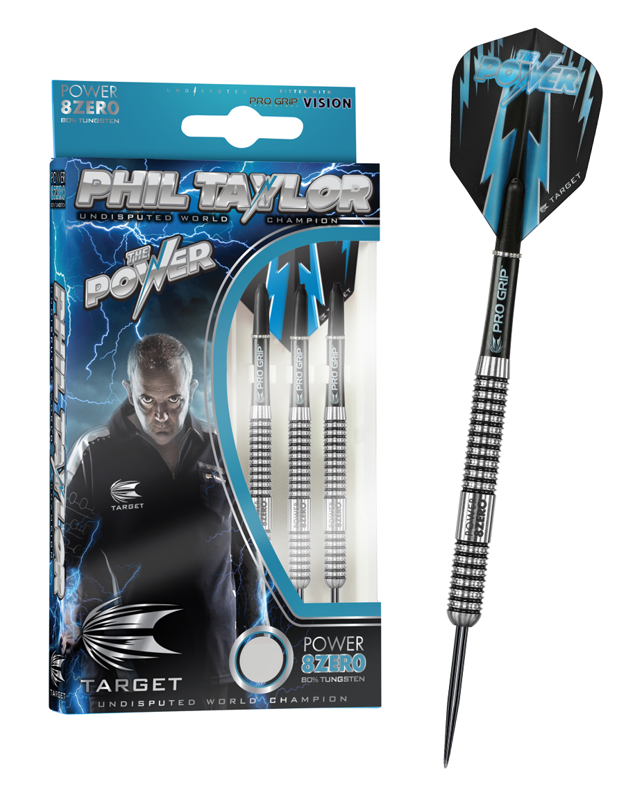 Phil Taylor Power 8 Zero Steel Tip Dart Pins