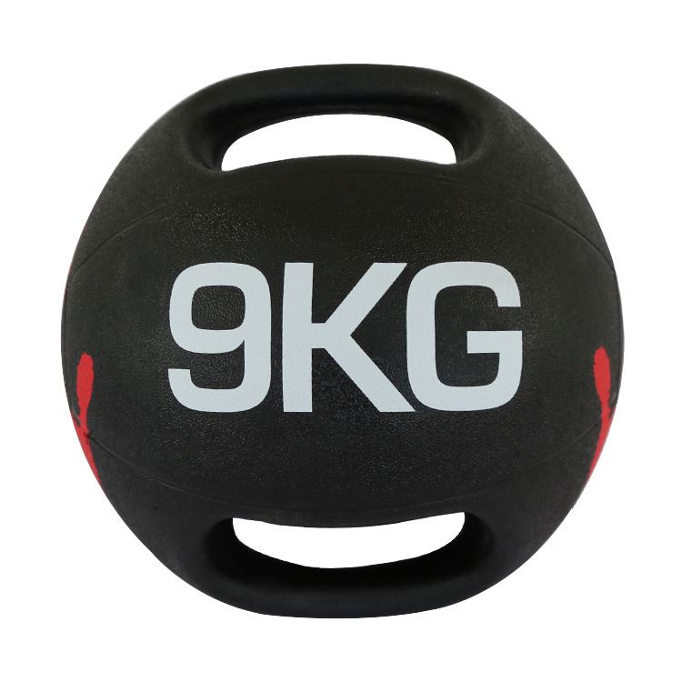 Rubber Medicine Ball With Handle 9Kg