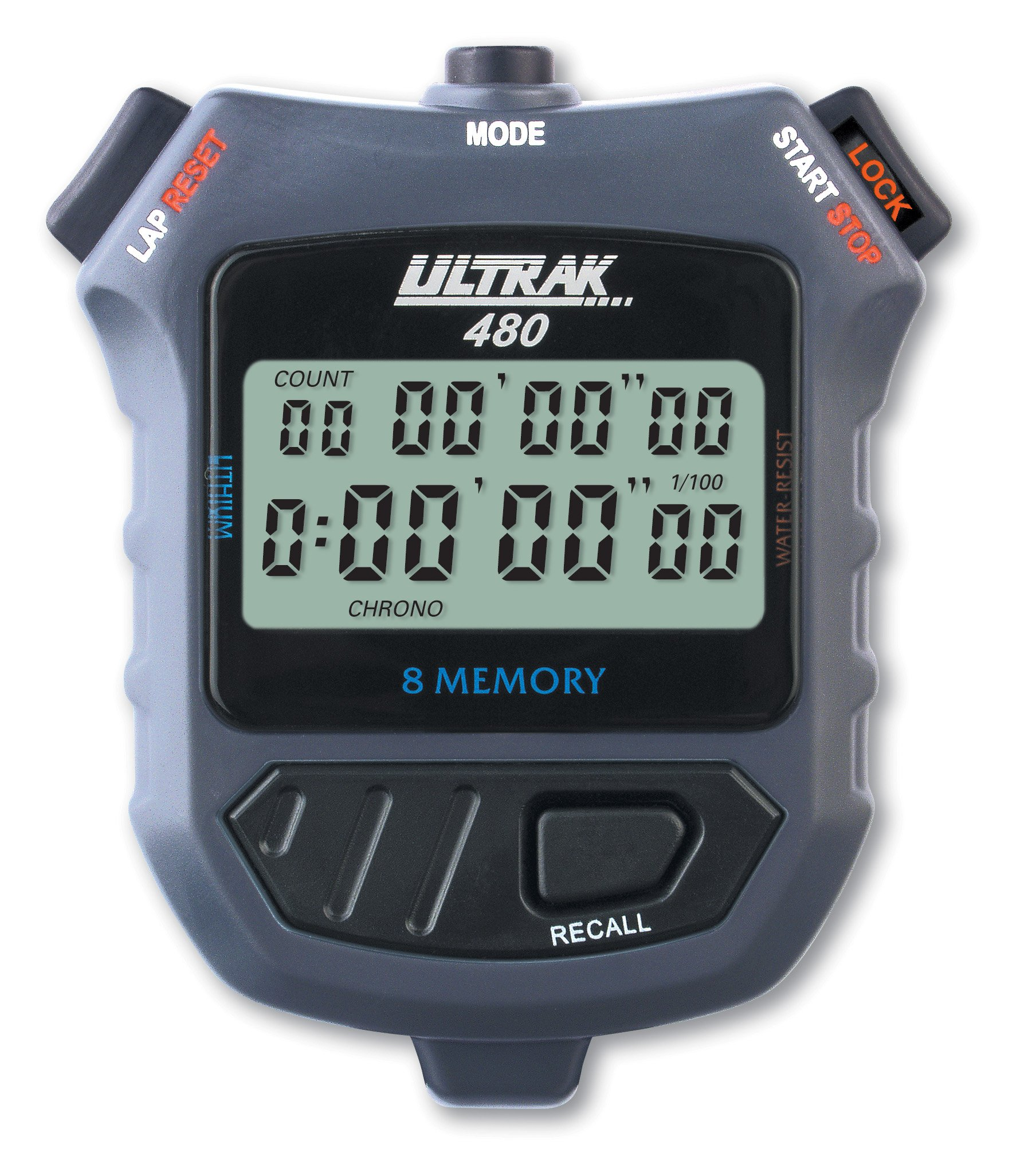 ULTRAK 480 8 Dual Split Memory 2-Liner Stopwatch