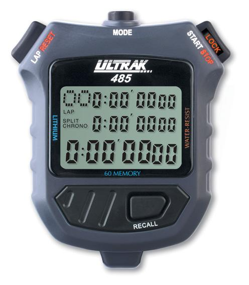 ULTRAK 485 60 Memory 3-Liner Stopwatch