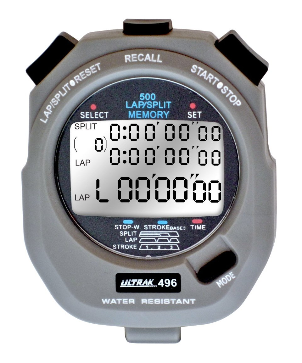 ULTRAK 496 500 Memory 3-Liner Stopwatch